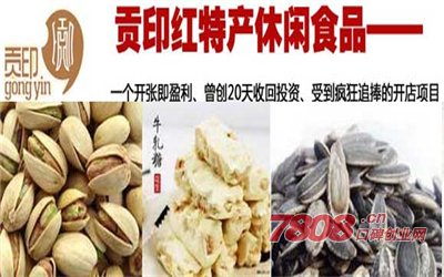贡印红特产休闲食品加盟