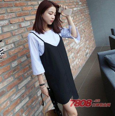 胖MM穿衣搭配福利到 两件套连衣裙让你超显瘦